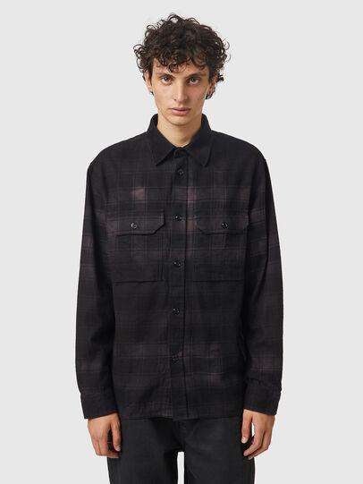 Diesel - S-JESS-DIP, Black/Violet - Shirts - Image 1
