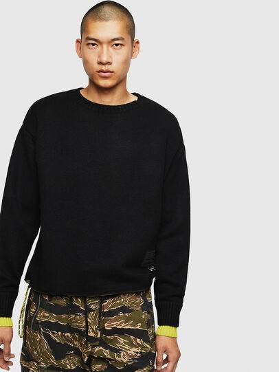 Diesel - K-PILOT, Black - Sweaters - Image 1