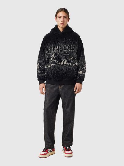 Diesel - S-UMMER-TEDDY, Black - Sweatshirts - Image 4
