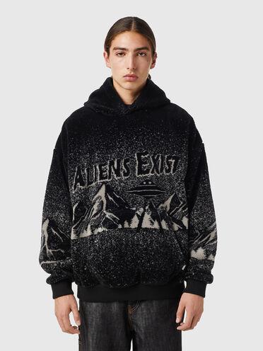 Aliens Exist teddy hoodie