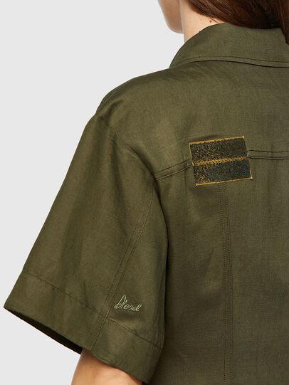 Diesel - D-AMABEL, Military Green - Dresses - Image 4