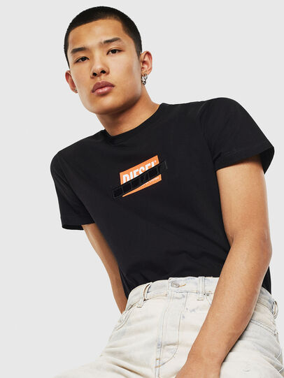Diesel - T-DIEGO-S7, Black/Orange - T-Shirts - Image 4