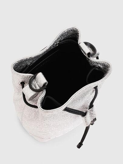 Diesel - BUCKETTINO, Silver - Crossbody Bags - Image 4