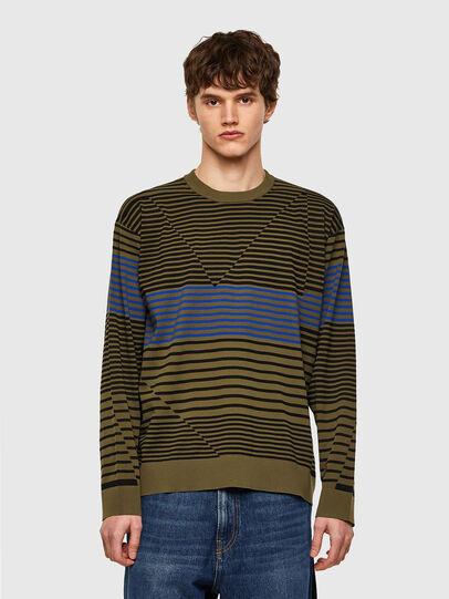 Diesel - K-BALTIC, Blue/Green - Sweaters - Image 1