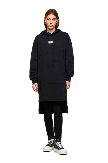 Vestido con capucha con pequeño estampado de logotipo