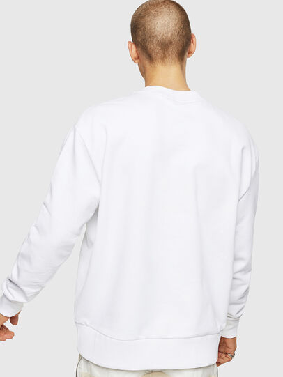 Diesel - S-BAY-COPY, White - Sweatshirts - Image 2