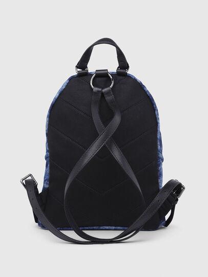 Diesel - LE-ZIPPER BACKPACK, Blue/White - Backpacks - Image 2