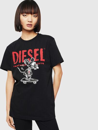 Diesel - CL-T-DIEGO-1, Black - T-Shirts - Image 2