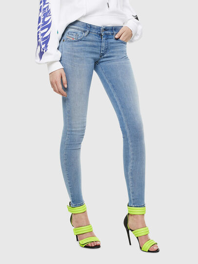 Diesel - Slandy Low 0096L, Light Blue - Jeans - Image 1