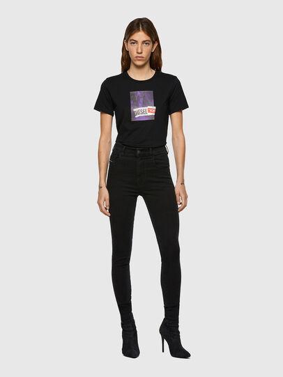 Diesel - Slandy High Skinny Jeans 069VW, Black/Dark Grey - Jeans - Image 5