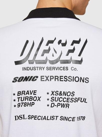 Diesel - T-RANDY-NEW-A1, Blanco - Polos - Image 3