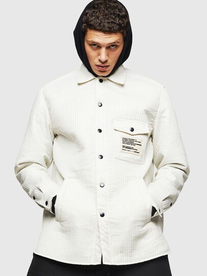 Diesel - S-TITCH, White - Shirts - Image 1