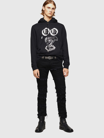 Diesel - SNEILBOOD-X1, Black - Sweatshirts - Image 6