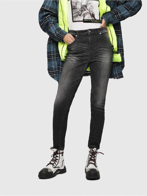 Babhila High 089AA, Black/Dark Grey - Jeans