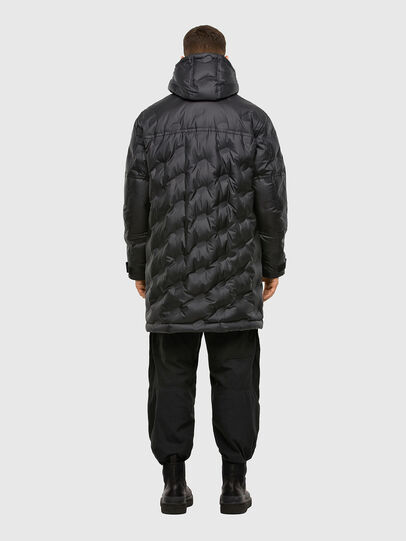 Diesel - W-RUSSELL-LONG-THERM, Black - Winter Jackets - Image 2