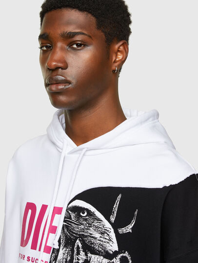Diesel - S-BLASTY, White/Black - Sweatshirts - Image 3