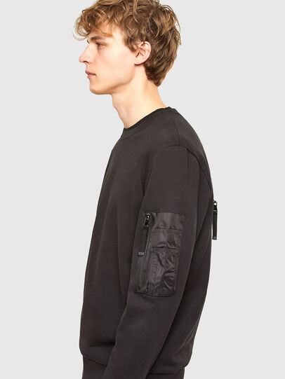 Diesel - S-IRIDIO, Black - Sweatshirts - Image 4