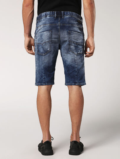 Diesel - KROOSHORT JOGGJEANS, Medium Blue - Shorts - Image 2