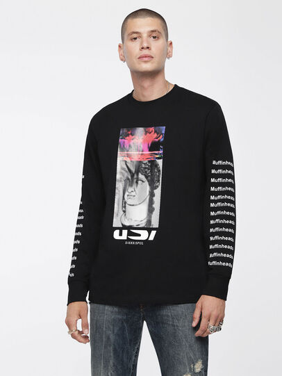 Diesel - T-LARGE-X, Black - T-Shirts - Image 1