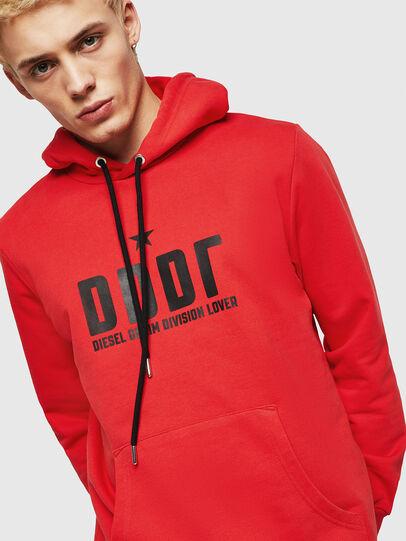 Diesel - S-GIR-HOOD-A1, Fire Red - Sweatshirts - Image 3