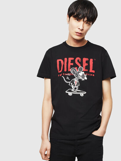 Diesel - CL-T-DIEGO-1, Black - T-Shirts - Image 1