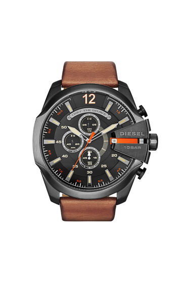 Mega Chief brown leather watch
