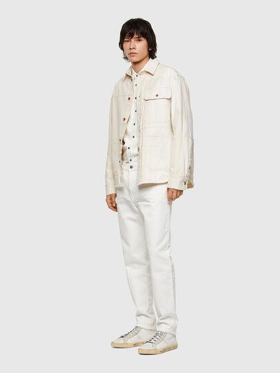 Diesel - D-Fining Tapered Jeans 0HBAJ, White - Jeans - Image 5