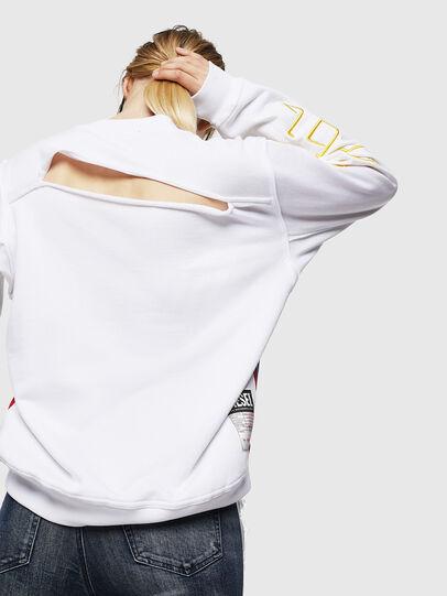 Diesel - F-LYANYDY, White - Sweatshirts - Image 2