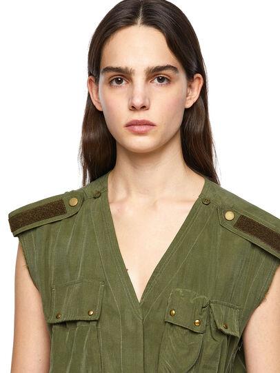 Diesel - D-GIUDITTA, Olive Green - Dresses - Image 4