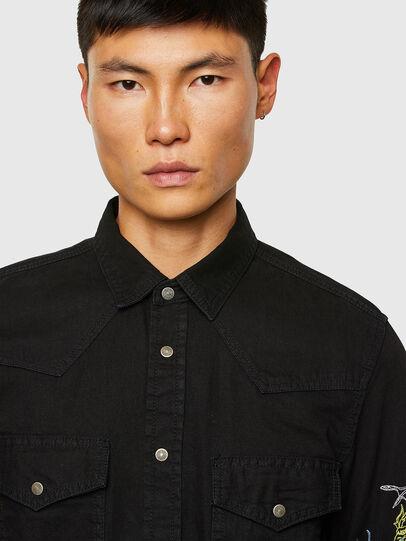 Diesel - D-EAST-P1-SP, Black - Denim Shirts - Image 3