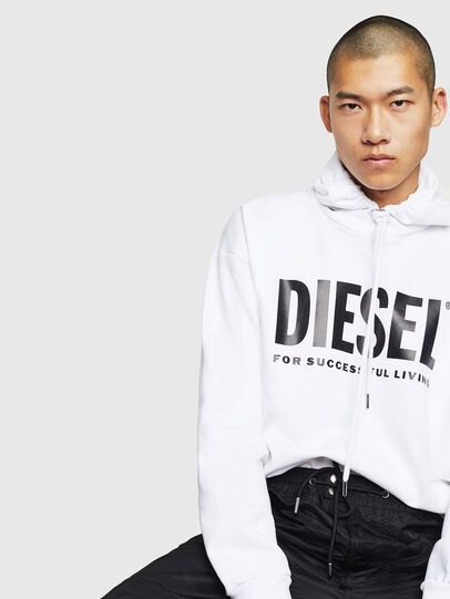 Diesel - S-DIVISION-LOGO, White - Sweatshirts - Image 4