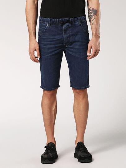 Diesel - KROOSHORT JOGGJEANS, Dark Blue - Shorts - Image 1