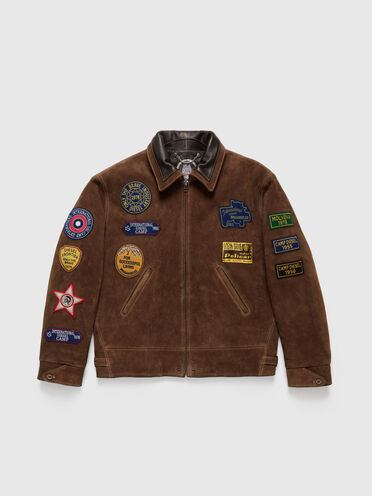 DieselXDiesel suede jacket with patches