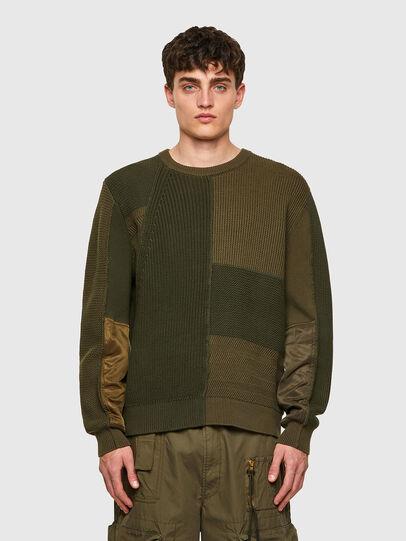 Diesel - K-YUKON, Military Green - Sweaters - Image 1