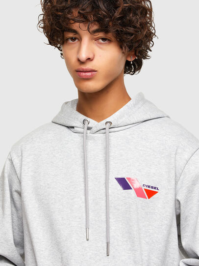 Diesel - S-GIRK-HOOD-K3, Light Grey - Sweatshirts - Image 3