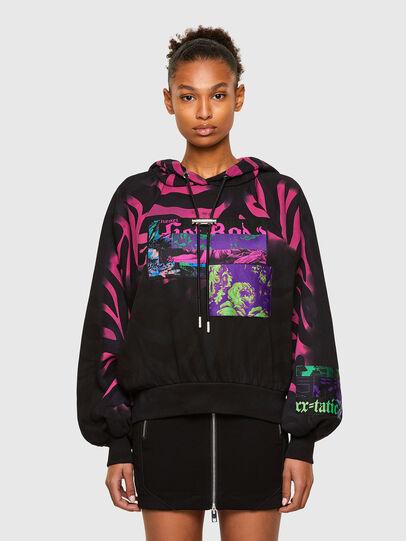 Diesel - F-BIORG, Black/Pink - Sweatshirts - Image 1