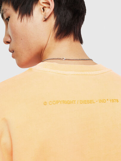 Diesel - S-BIAY-FLUO, Orange - Sweatshirts - Image 7