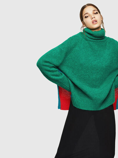Diesel - M-PERSIA, Green/Red - Sweaters - Image 5