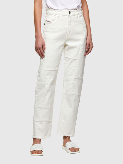 Diesel - D-Reggy Straight Jeans 009UL, White - Jeans - Image 1