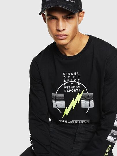 Diesel - T-JUST-LS-J3, Black - T-Shirts - Image 4