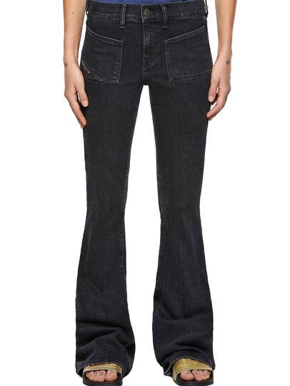 Diesel - D-Ebbey Bootcut Jeans 09A66, Black/Dark Grey - Jeans - Image 1