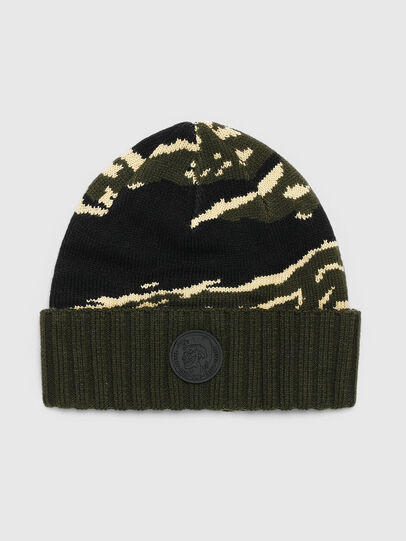 Diesel - K-MASK, Green/Black - Knit caps - Image 1