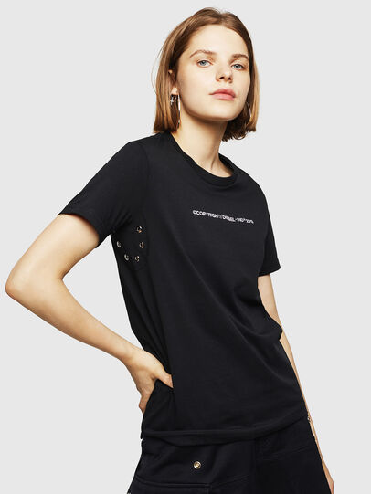 Diesel - T-SILY-WR, Black - T-Shirts - Image 1