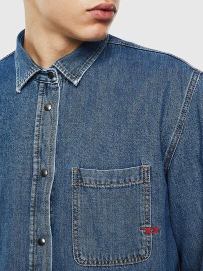 Diesel - D-WEAR-B, Blue Jeans - Denim Shirts - Image 7