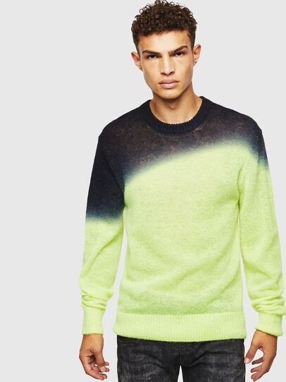 Diesel - K-TREAT, Yellow Fluo - Sweaters - Image 1