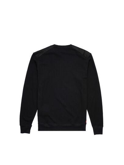 Diesel - UMLT-WILLY-W, Black - Sweatshirts - Image 2