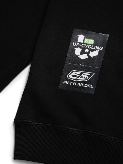 Diesel - D-HALF&HALF, Black - Sweatshirts - Image 5