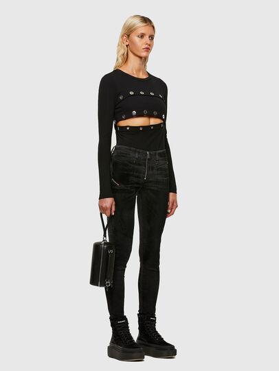 Diesel - Slandy Skinny Jeans 069TC, Black/Dark Grey - Jeans - Image 5
