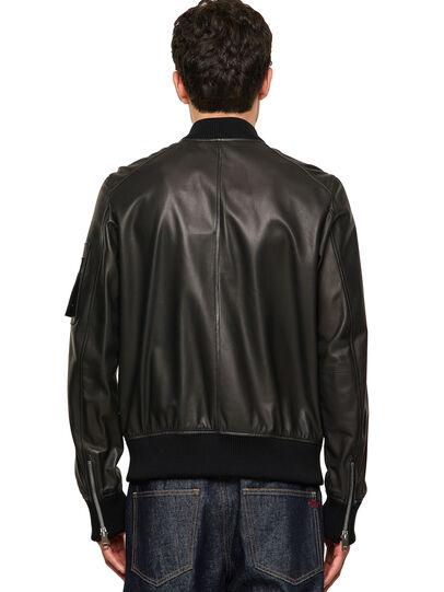 Diesel - L-ABBOTT, Black - Leather jackets - Image 2