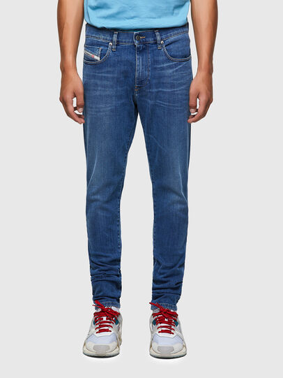 Diesel - D-Strukt Slim Jeans 09A80, Medium Blue - Jeans - Image 1